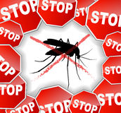 Stop mosquitoes abstract concept Royalty Free Stock Image