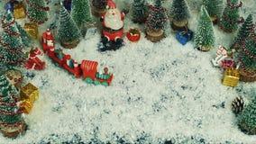 Stop motion animation of Un Craciun Fericit romanian , in English Merry Christmas