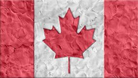 Stop motion clay made Canada Flag cartoon handmade like animation seamles loop - new quality national patriotic colorful. Stop motion Canada flag cartoon stock video