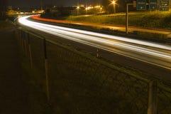 Stop motion car lights stock image