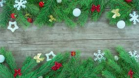 Stop motion of christmas tree stock video footage