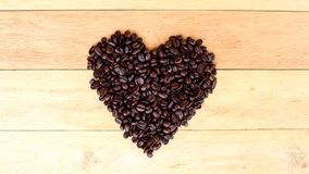 Stop motion of coffee bean. Like heartbeat stock footage