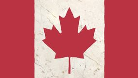 Stop motion of drawn grunge Canada flag cartoon animation - new quality national patriotic colorful symbol video footage. Stop motion of pencil drawn Canada flag stock video