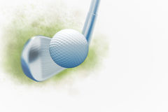 Stop motion golf. Stop motion golf in 3d color background render Royalty Free Stock Photos