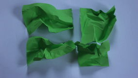 Stop motion green paper stock video