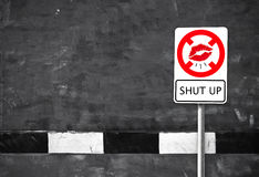 Stop mouth sign Royalty Free Stock Photo