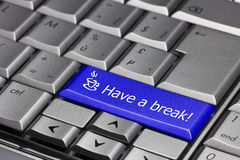 Stop we need a break. Push the time-out button and have a break Stock Images