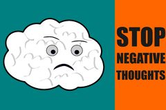 Stop negative thoughts suggestion Stock Photo