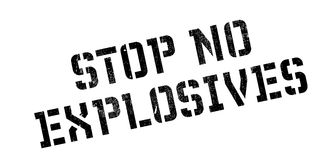 Stop No Explosives rubber stamp Stock Photo