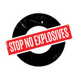 Stop No Explosives rubber stamp Stock Images