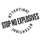 Stop No Explosives rubber stamp Royalty Free Stock Image