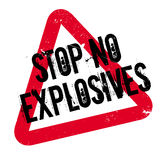 Stop No Explosives rubber stamp Stock Photos