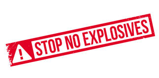 Stop No Explosives rubber stamp Royalty Free Stock Photo