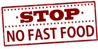 Stop no fast food Stock Images