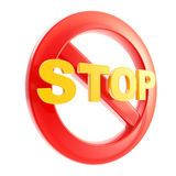 Stop is not allowed forbidden sign Stock Images