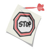Stop note Royalty Free Stock Image
