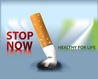 Stop now smoking Royalty Free Stock Image