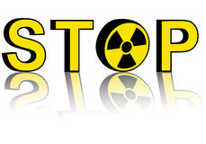 Stop nuclear power Stock Image