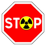 Stop nuclear Stock Image