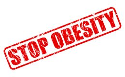STOP OBESITY red stamp text Royalty Free Stock Photography
