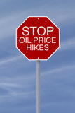 Stop Oil Price Hikes Royalty Free Stock Photography