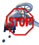 Stop oil production Royalty Free Stock Photo