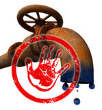 Stop oil production Royalty Free Stock Image
