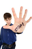 Stop Palm Gesture Royalty Free Stock Photo