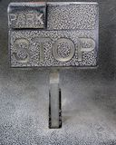 Stop and park pedal Stock Images