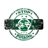 Stop parking rubber stamp Stock Images