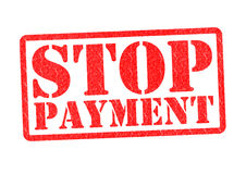 STOP PAYMENT Stock Image