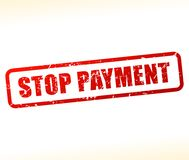 Stop payment text stamp. Illustration of stop payment text stamp Stock Photo