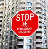 Stop for Pedestrians Stock Photo