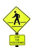 Stop for Pedestrians Royalty Free Stock Image