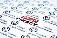 Stop piracy royalty free stock image