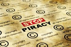 Stop piracy Stock Photography