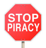 Stop Piracy Illegal File Sharing Internet Torrent Websites Stock Image