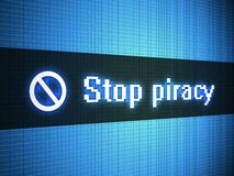 Stop piracy words on display Stock Photography