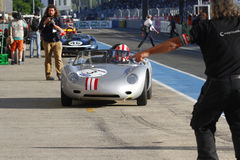 Stop in the pit lane of Le Mans Royalty Free Stock Images