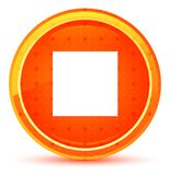 Stop play icon natural orange round button vector illustration
