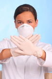 Stop poison, doctor showing gesture Royalty Free Stock Photos