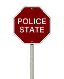 Stop Police State Road Sign Royalty Free Stock Photography