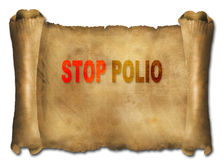 Stop polio Stock Images