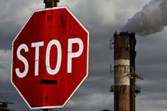Stop pollution Royalty Free Stock Image
