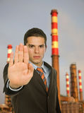 Stop pollution Stock Photography