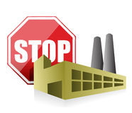 Stop pollution environmental concept Royalty Free Stock Photography