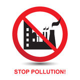 Stop Pollution Icon Stock Images