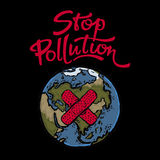Stop Pollution poster Royalty Free Stock Images