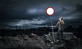 Stop pollution! Royalty Free Stock Photo