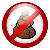 Stop poop Sign. Vector. Glossy Stop poop Sign. Vector illustration illustration Vector Illustration